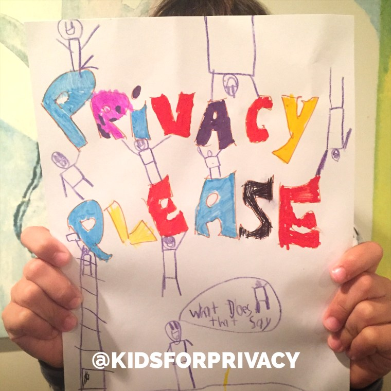 """The @KidsForPrivacy campaign hopes to encourage parents to """"pause before you post"""" revealing pictures of children online."""