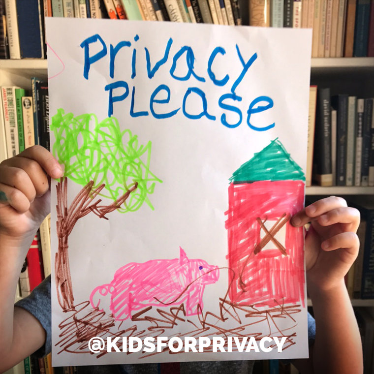 The @KidsForPrivacy is educating parents on posting pictures safely online to protect their children from predators.