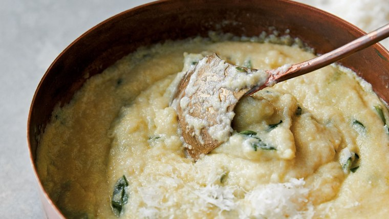Creamy Polenta with Spinach