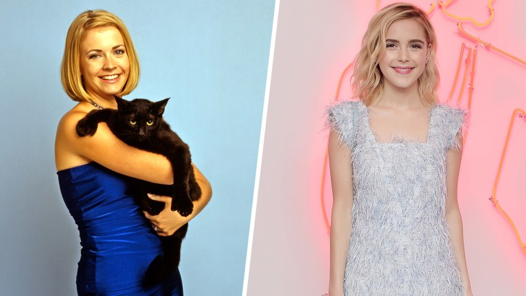 Melissa Joan Hart played Sabrina in the original series, while Kiernan Shipka takes over the role for Netflix's darker reboot.