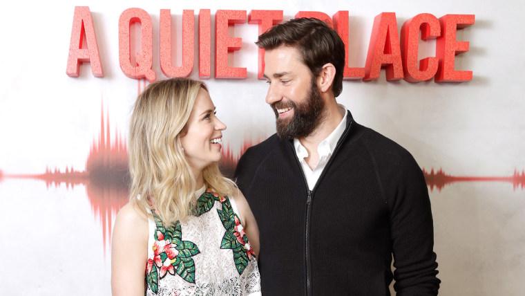 "Emily Blunt and John Krasinski at ""A Quiet Place"" screening"