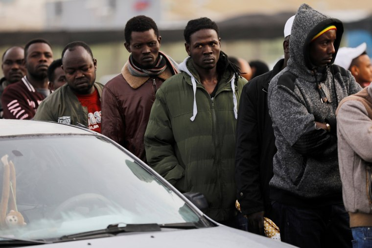Image: African migrants