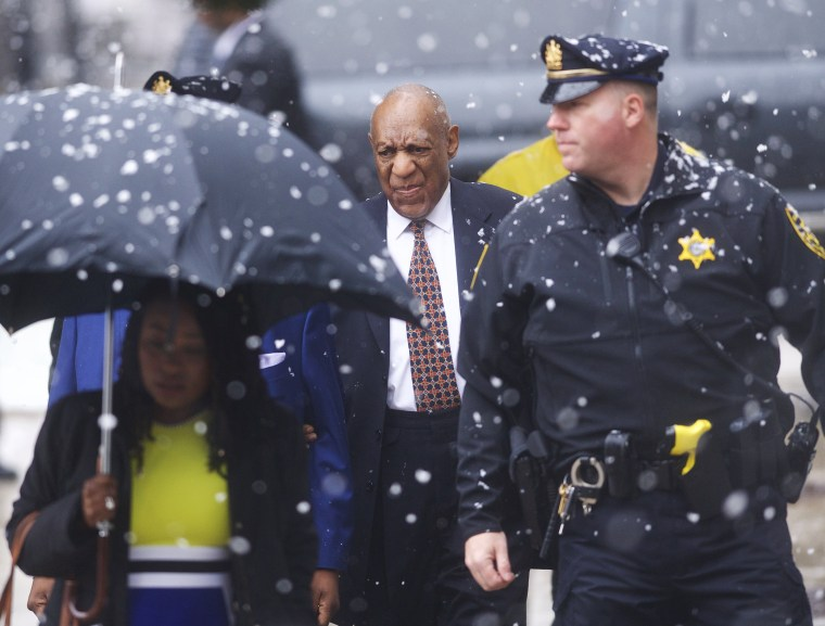Image: Bill Cosby arrives at the Montgomery County Courthouse before jury selection
