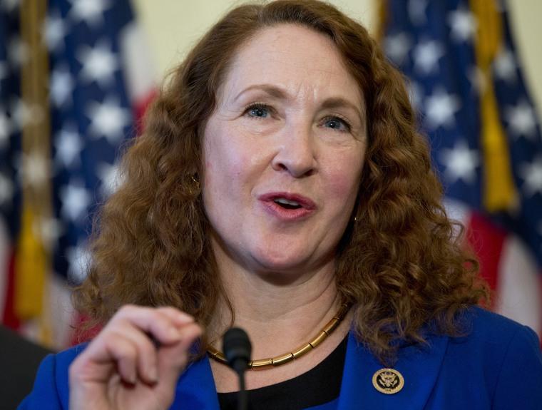 Image: Elizabeth Esty speaks on Capitol Hill in Washington
