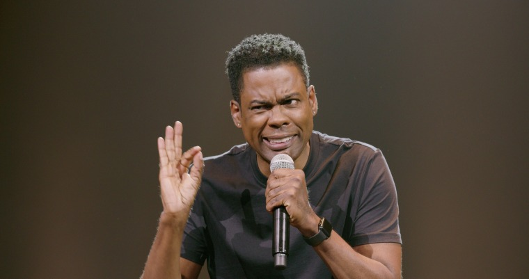 "Chris Rock performs in his stand-up special ""Tamborine."""
