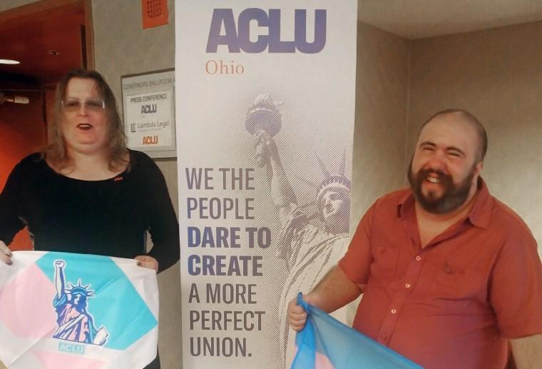 Image: Plaintiffs Stacie Ray and Basil Argento
