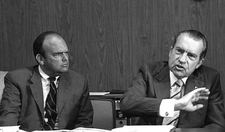 Image: President Richard Nixon and John D. Ehrlichman in 1972