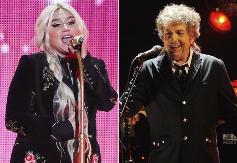 Image: Kesha and Bob Dylan