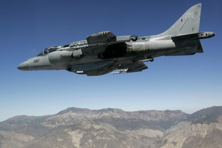 Image: A Marine Corps AV-8 Harrier