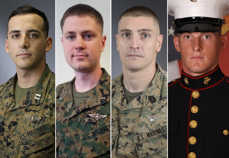 Image: Marine helicopter crash victims