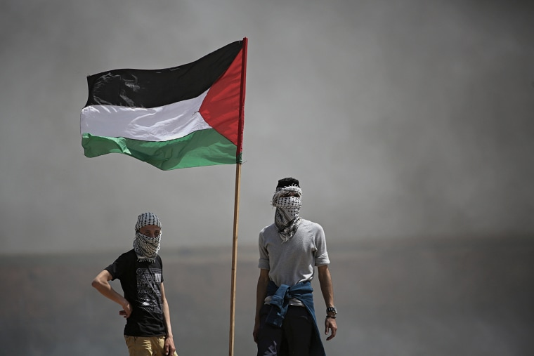Image: Palestinians protesters