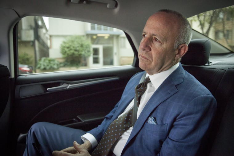 Image: Sacramento Mayor Darrel Steinberg is shuttled to one of his daily appointments in Sacramento, California, April 5, 2018.