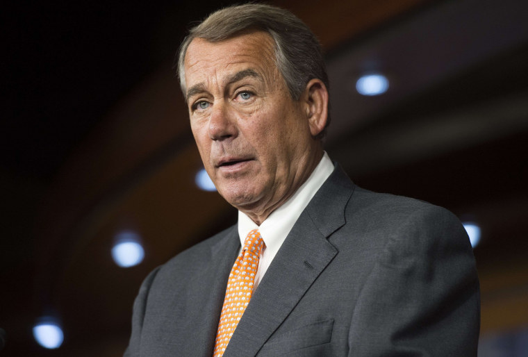 Image: John Boehner speaks during a press conference on Capitol Hill