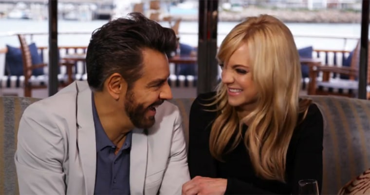 OVERBOARD interview on TODAY, from left: Eugenio Derbez Anna Faris, 2018.