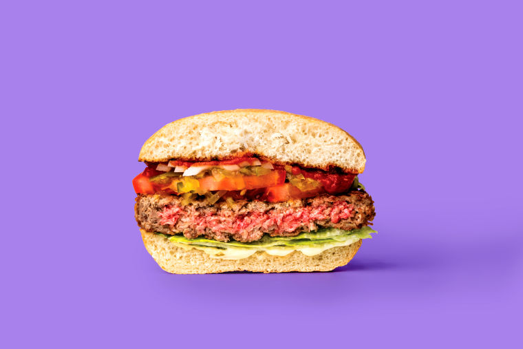 The Impossible Burger looks mighty meaty ... but it's not.