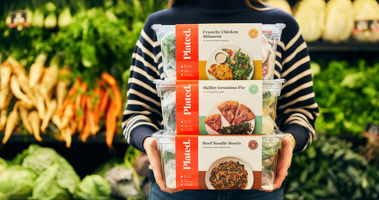 Second iteration of Plated's retail product, photographed in-store at Jewel Osco in Chicago.