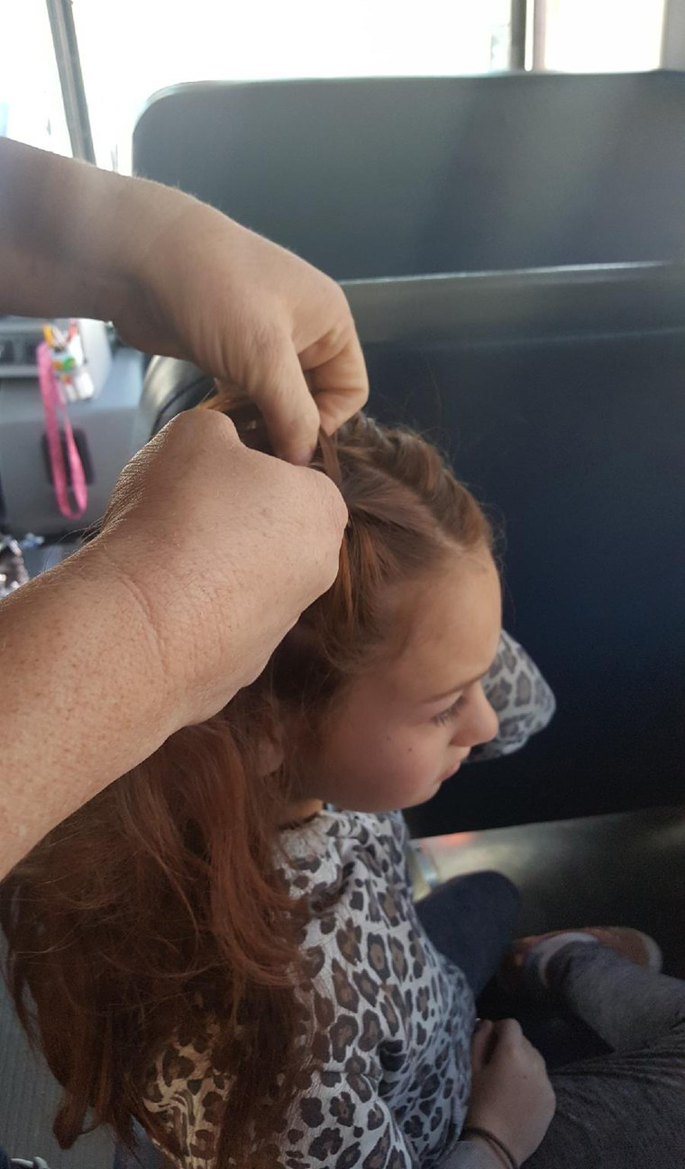 Isabella loves when Dean gives her two braids on the sides of her head.