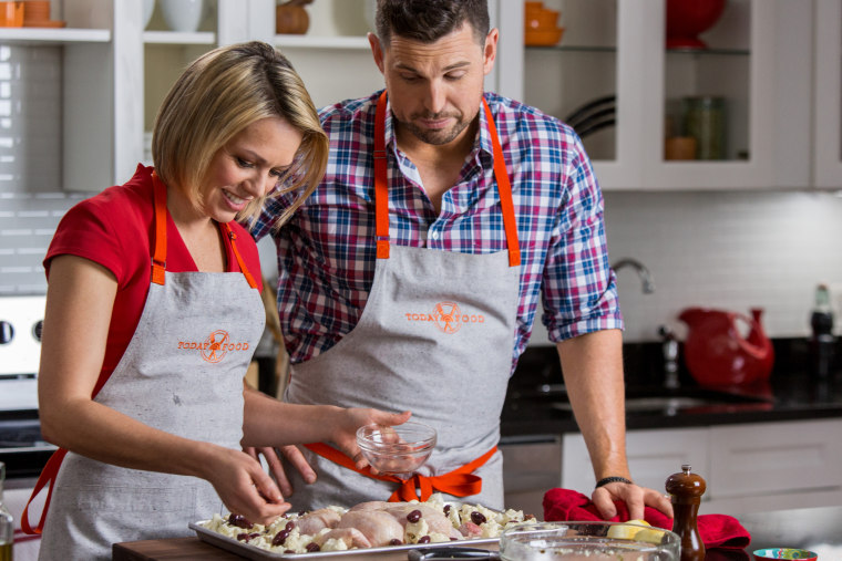 Ryan Scott and Dylan Dreyer cooking one-pot meals