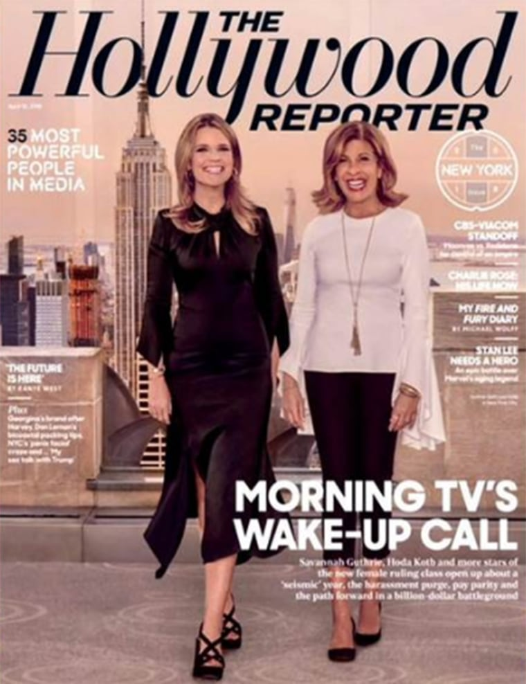 Savannah and Hoda on the cover of Hollywood Reporter