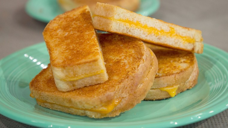 Justin Chapple's  Sheet-Pan Grilled Cheese