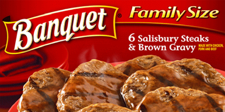 FAMILY SIZE SALISBURY STEAKS AND BROWN GRAVY