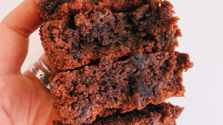 Double Chocolate Chip Tahini Brownies