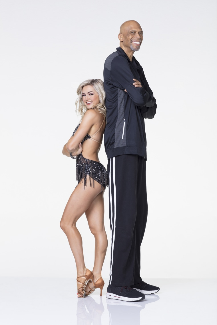 "Kareem Abdul-Jabbar and ""Dancing with the Stars"" partner Lindsay Arnold"