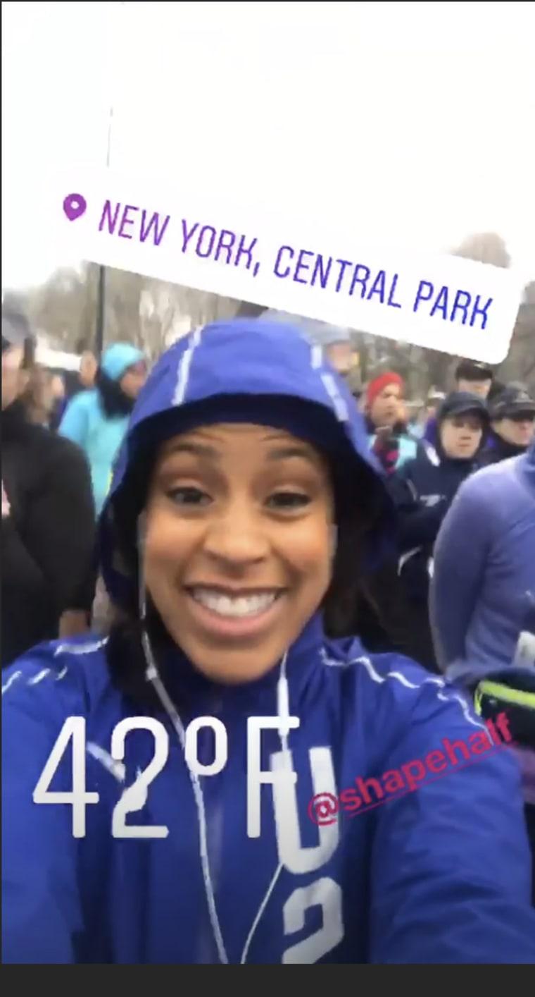 Sheinelle Jones ran the 2018 Shape Women's half-marathon