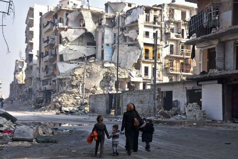 Image: TOPSHOT-SYRIA-CONFLICT-ALEPPO