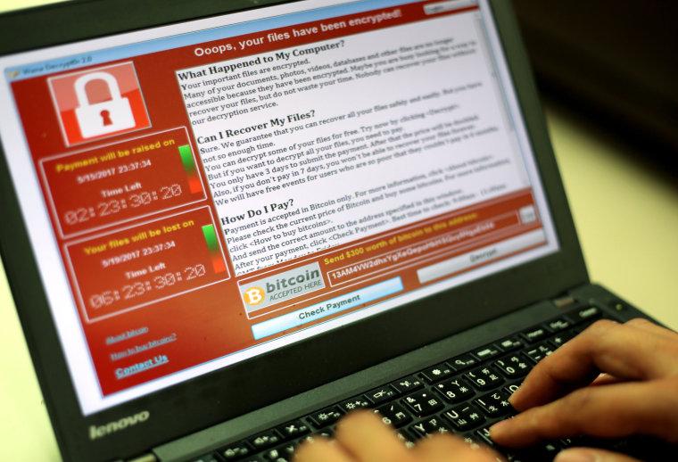 Image: WannaCry ransomware