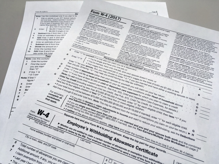Bigger Paychecks Could Have Tax Bill Experts Warn. Irs W4 Form. Worksheet. Irs Personal Allowance Worksheet At Clickcart.co