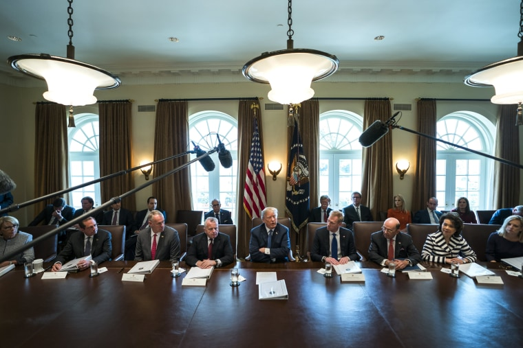 Image: President Trump comments on Syria during meeting with cabinet members in the White House
