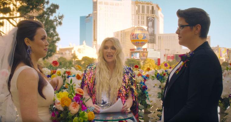 Image: Kesha I Need a Woman to Love Me video