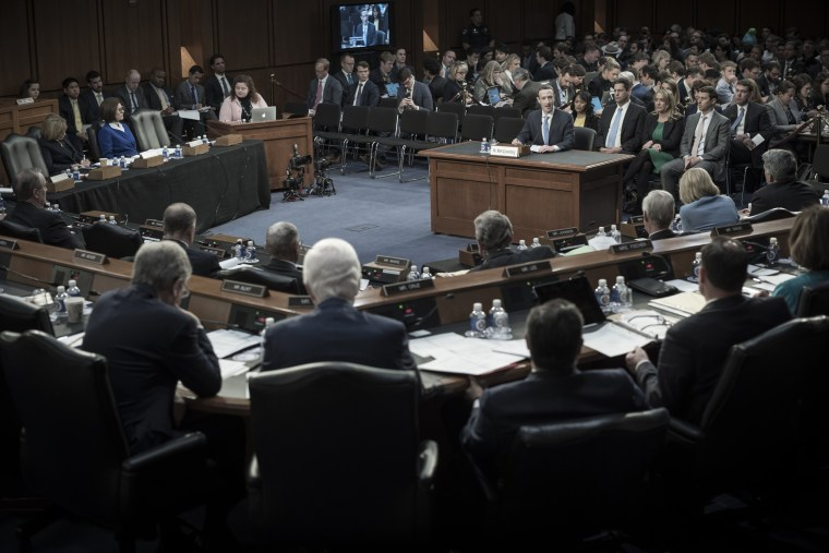 Image: Mark Zuckerberg appears before a joint Senate hearing on Capitol Hill