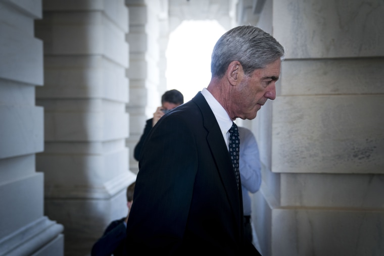 Image: Robert Mueller, the special counsel investigating Russian interference in the 2016 election, on Capitol Hill in Washington.