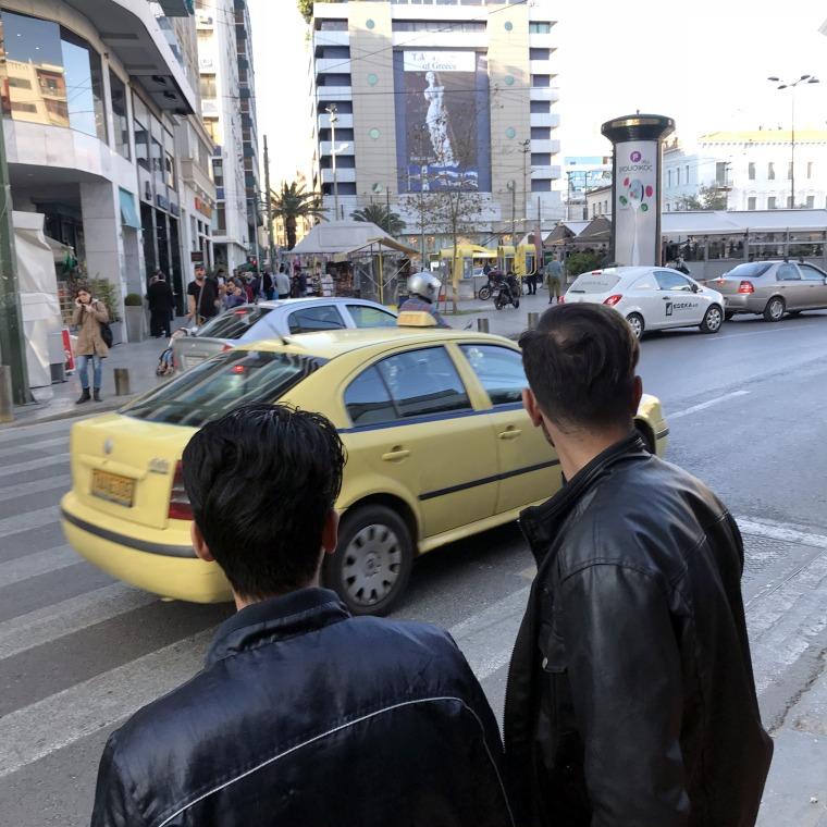 Image: Migrants in Omonia Square