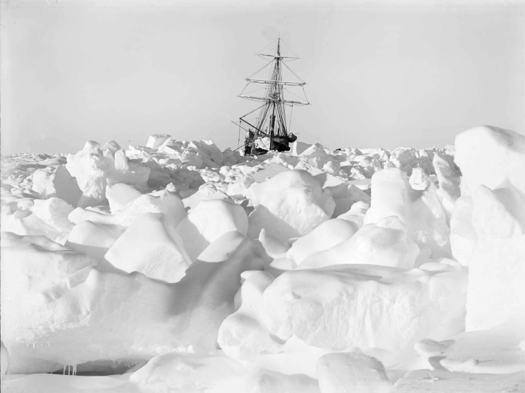 "Ernest Shackleton's ship ""Endurance"" was trapped and slowly crushed by ice in the Weddell Sea during his second expedition to the Antarctic."