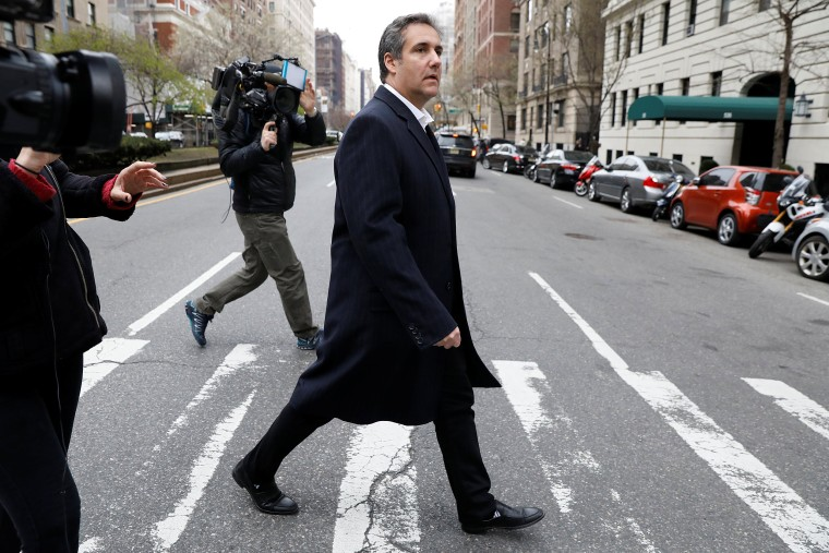 Image: U.S. President Donald Trump's personal lawyer Michael Cohen exits a hotel in New York