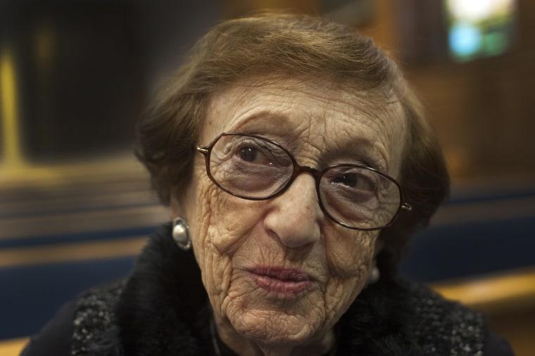 Image: Holocaust survivor Sonya Klein