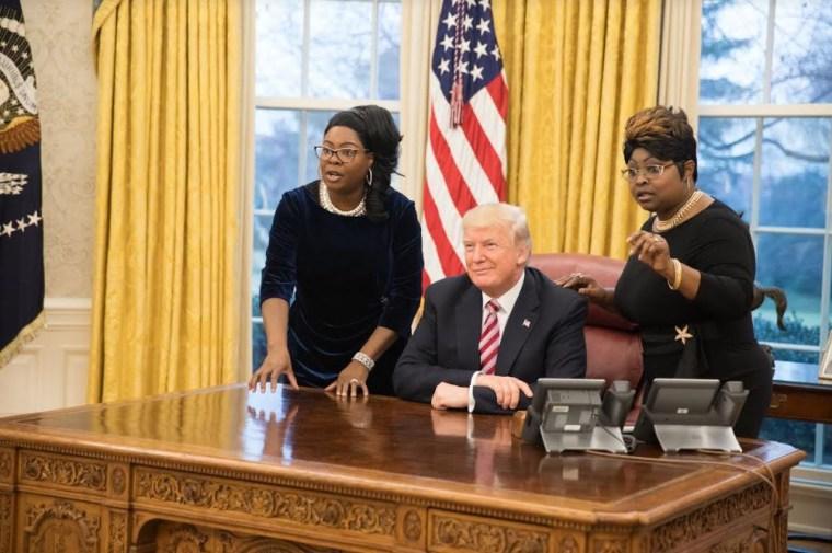 Image: Diamond and Silk Meet Donald Trump