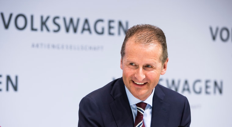 Image: Herbert Diess attends the Volkswagen annual media and investor conference