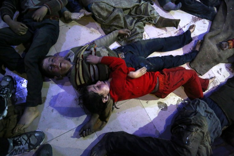 Image: Alleged chemical attack on civilians in Douma