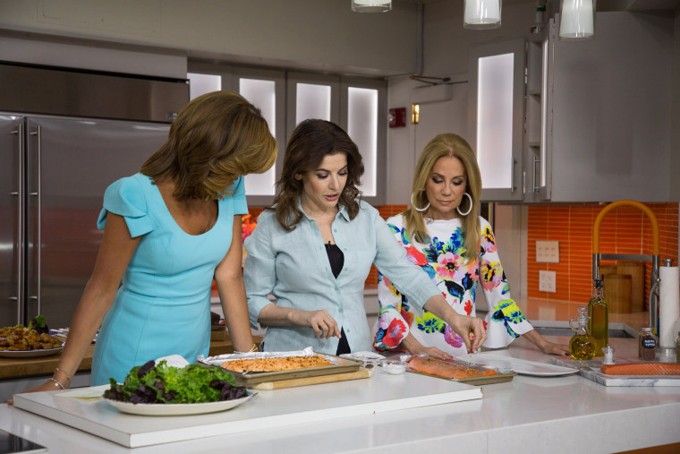 Image: Hoda Kotb, Nigella Lawson and Kathie Lee Gifford on April 13, 2018.