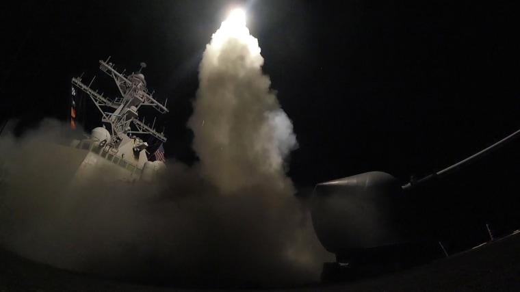 Image: Tomahawk Missile Strike Syria 2017