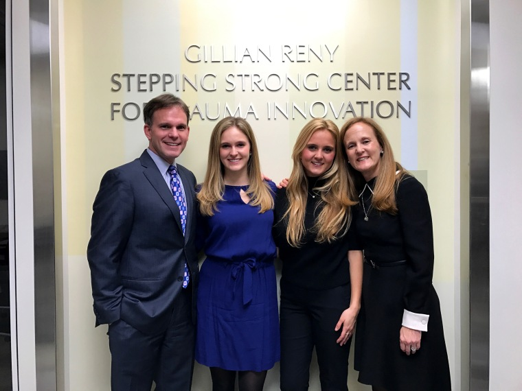 Image: Gillian Reny, who was injured in the Boston Marathon bombing, with her family.