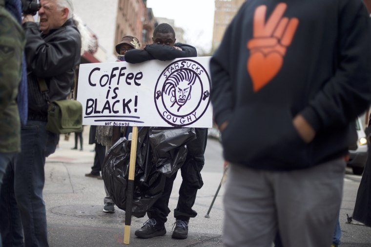 Protests follow outrage after two black men arrested at Philly Starbucks