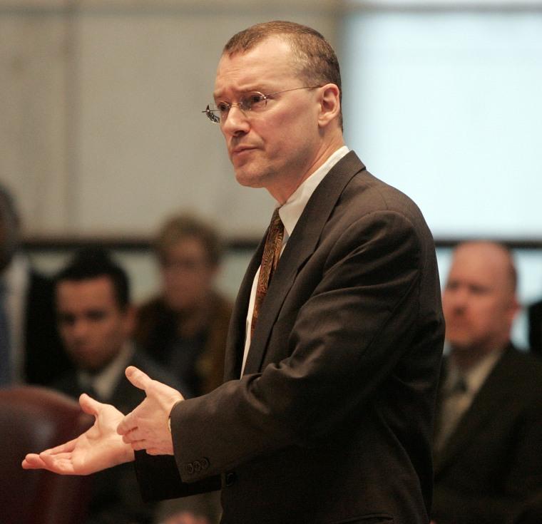 Image: Attorney David S. Buckel makes arguments in favor of gay marriage