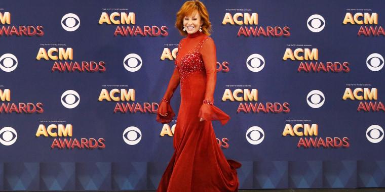 Reba McEntire red dress