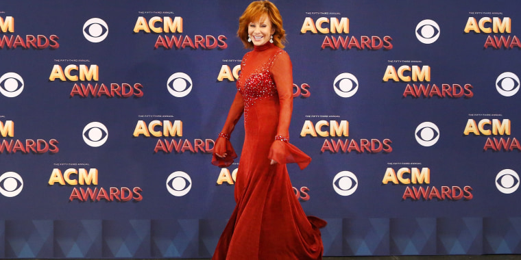 Reba McEntire red dress