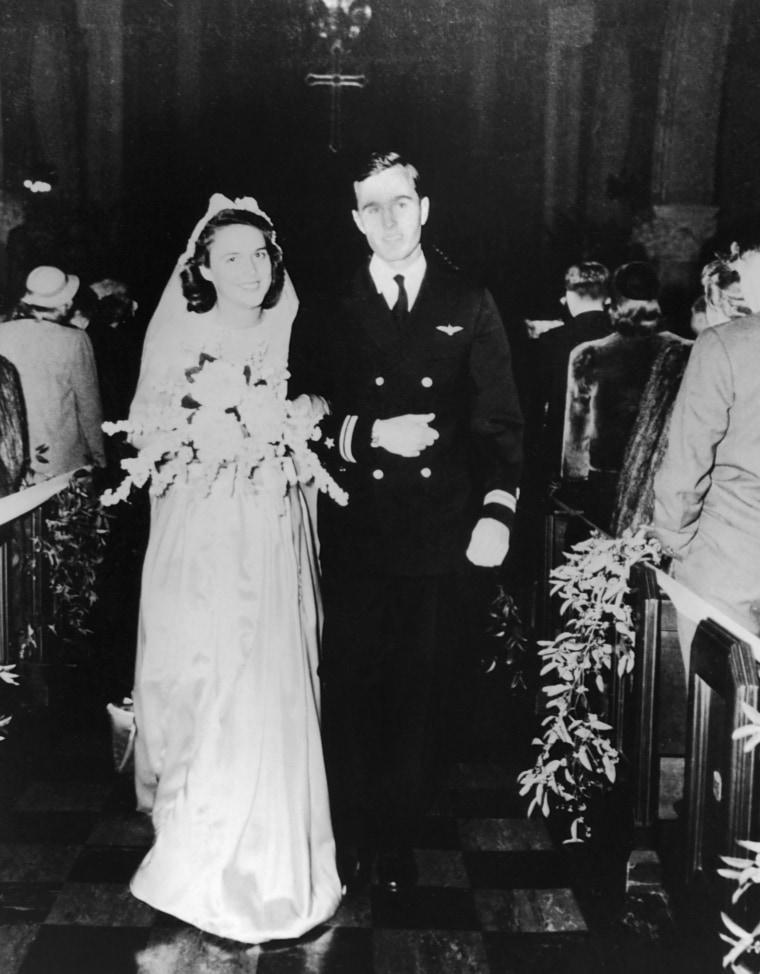 Image: Wedding of George and Barbara Bush